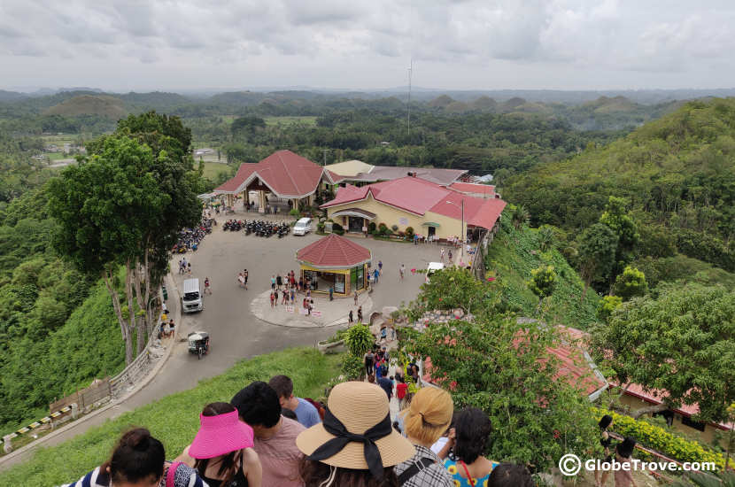 Heading up to the view point of the Chocolate hills