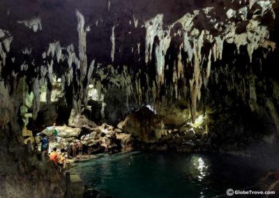 Hinagdanan Cave in Pangalao island