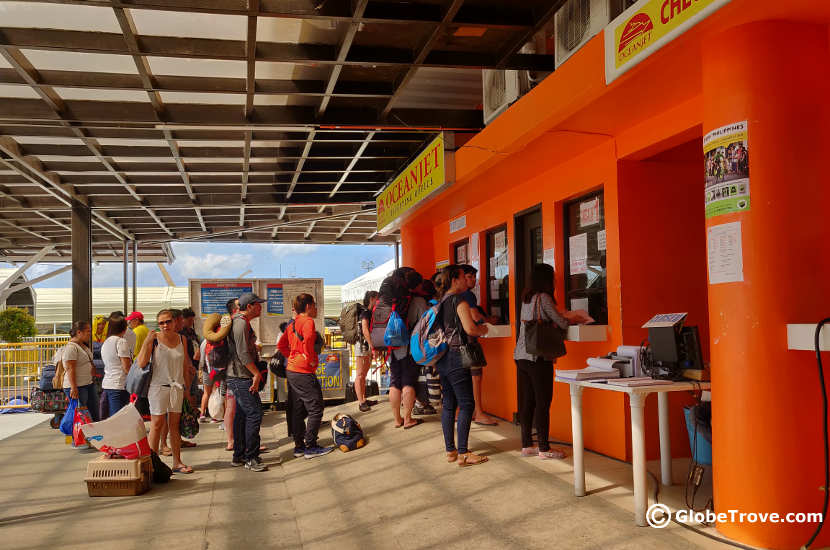 Ticket booth for the ferry from Bohol to Cebu