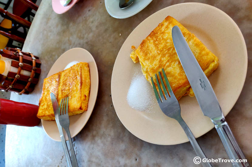 French toast with cheese at Universal Cafe in Seria Brunei