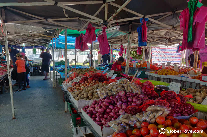 The local vegetable market in Kuala Belait