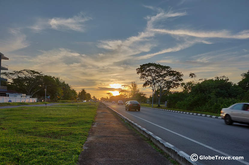 A glimpse of one of the main roads passing between Seria and Kuala Belait