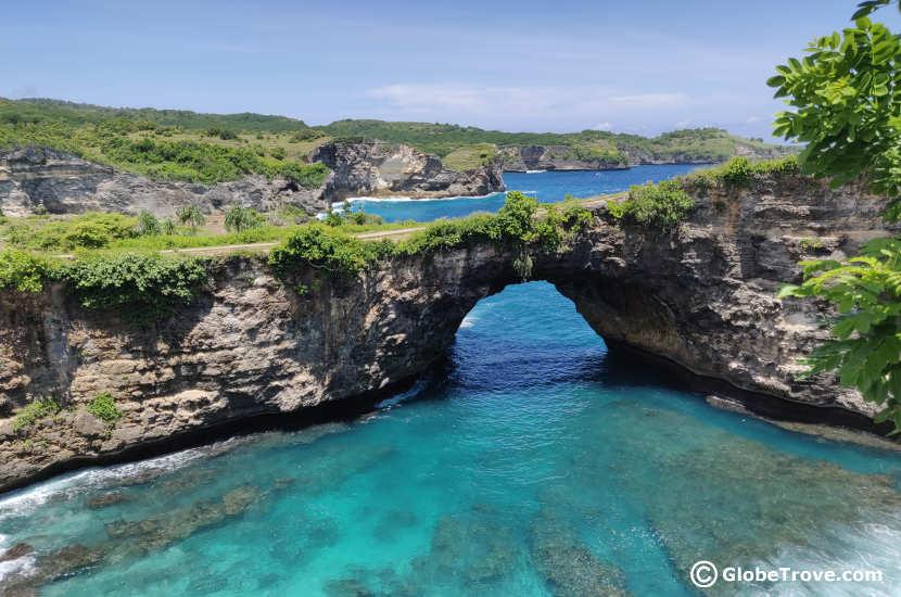 Broken beach arch