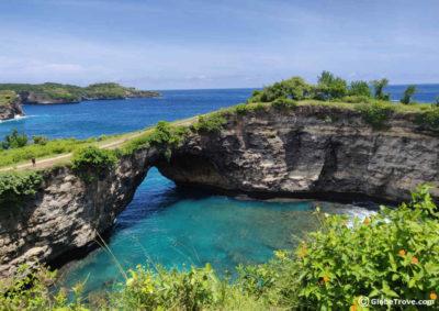 Broken beach in Nusa Penida