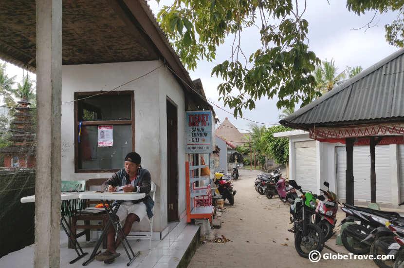 Ticket office at Nusa Lembongan